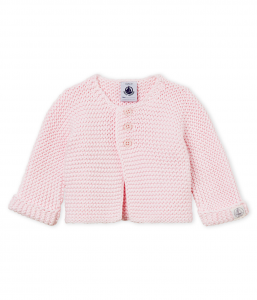 Cardigan rosa in cotone