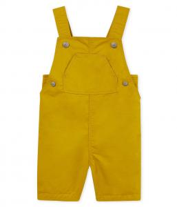 Salopette gialla con tasca
