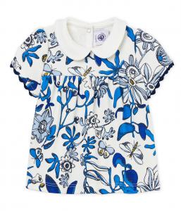 Camicia bianca con fantasia floreale multicolore