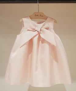 Vestito rosa con fiocco, 9M