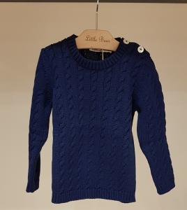 Maglioncino blu scuro con bottoni, 18M
