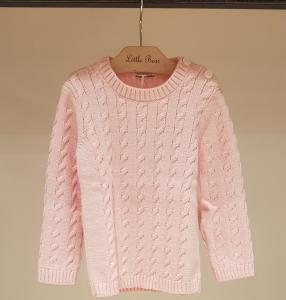 Maglioncino rosa con bottoni, 18M