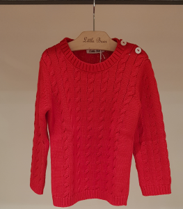 Maglioncino rosso con bottoni, 18M