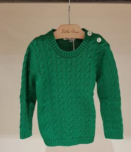 Maglioncino verde con bottoni