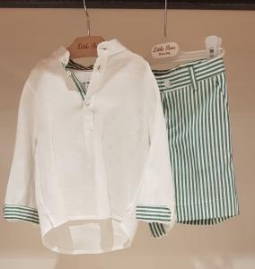 Completo bianco e verde