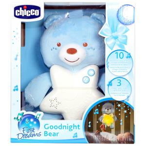 Carillon orsetto con luce notturna Chicco azzurro