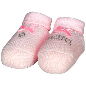 Babbucce neonata con strass 100% cotone Baby vip