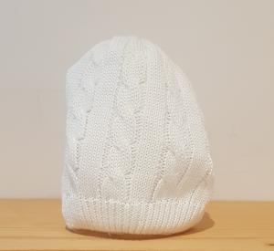Cappello basico bianco con ricami