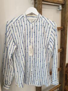 Camicia coreana in cotone Tintoria Mattei 954