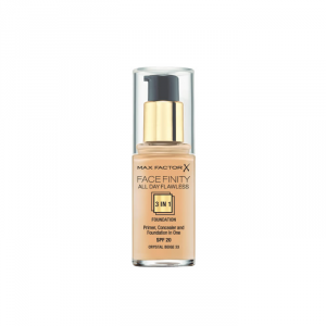 Max Factor Facefinity 3 In 1 Primer, Concealer And Foundation Spf20 33 Crystal Beige 30ml