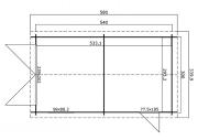 GARAGE IN LEGNO  CM 540X300 SPESSORE MM 34