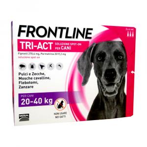 FRONTLINE TRI-ACT per cani dai 20 ai 40 kg - 3 pipette