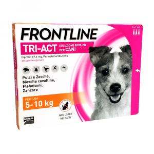 FRONTLINE TRI-ACT per cani dai 5 ai 10 kg - 3 pip