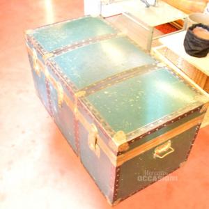 Baule Legno Verde 110x55x53h