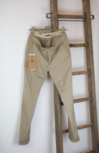Pantalone beige cotone e lino Tela Genova