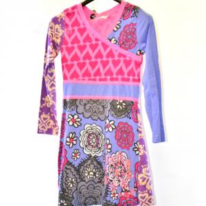 Vestito Bambina Desigual Anni 9-10 Fantasia Rosa
