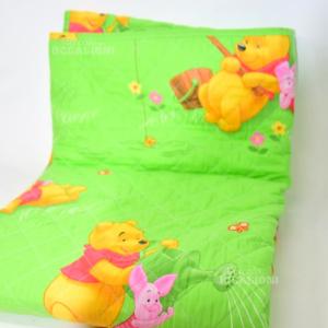 Copriletto Verde Winnie The Pooh Caleffi Per Letto Singolo Disney T