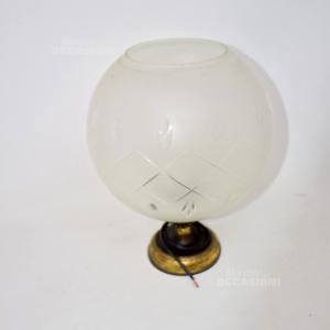 Lampada Applique Palla Vetro Base Tipo Ottone (no