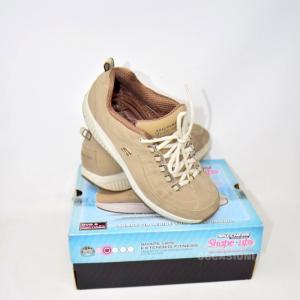 Scarpe Skechers Shape-ups Beige N 38
