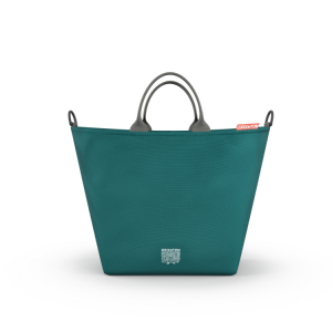 Borsa fasciatoio shopping bag GREENTOM Teal Petrolio