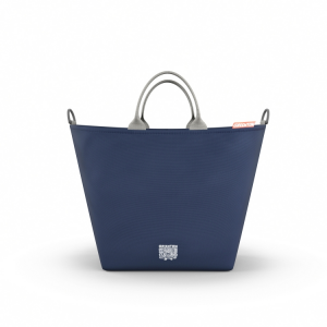 Borsa fasciatoio shopping bag GREENTOM Blu