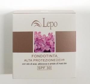FONDOTINTA ALTA PROTEZIONE UVA UVB SPF 30 LEPO