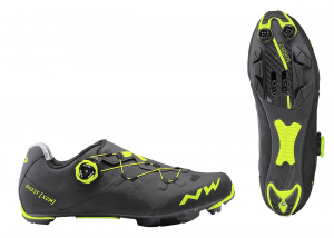 NORTHWAVE MTB Cycling Shoes Ghost XCM  Black/Yellow Fluo