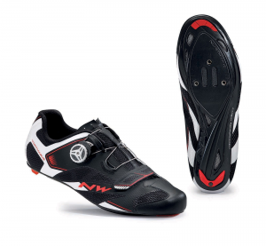 NORTHWAVE Man road cycling shoes SONIC 2 PLUS black/white/red