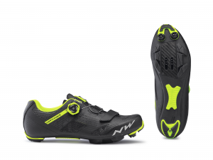 NORTHWAVE Bike cycling shoes Male Razer Color Blk/Yellow Fluo cross country