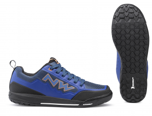 NORTHWAVE Bike cycling shoes Male Clan Color Blue/Orange flat pedal
