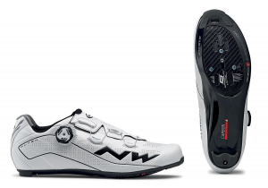 NORTHWAVE Man road cycling shoes FLASH 2 CARBON white/black