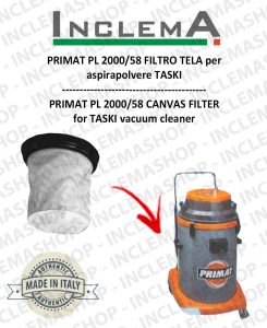 PRIMAT PL 2000/58 Canvas Filter for vacuum cleaner TASKI