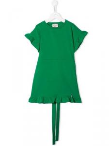 Vestito verde in felpa, 2A-8A