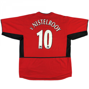 2003-04 Manchester United Maglia Home #10 van Nistelrooy XL (Top)