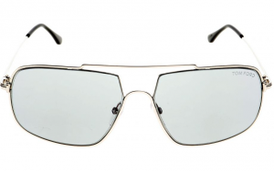 Tom Ford - Occhiale da Sole Uomo, AIDEN-02, Shiny Palladium/Grey Blue Shaded  FT0585 (16A)  C60