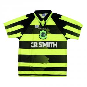 1996-97 Celtic Maglia Away L *Cartellino
