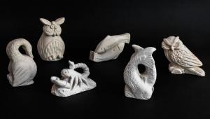Statuette animaletti da tavolo in pietra leccese lavorato a mano