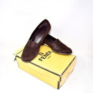 Scarpe Fendi Vintage Marroni Scamosciate N 38