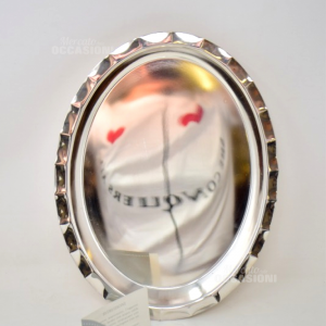 Vassoio Ovale Metallo Placato Argento