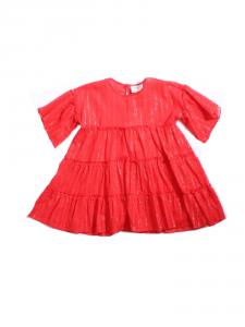 Vestito rosso in mussola
