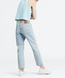 Jeans donna LEVI'S 501 CROP LIGHT INDIGO