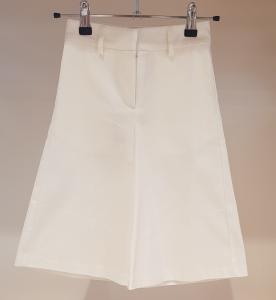Pantalone bianco in gabardine