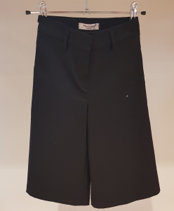 Pantalone nero in gabardine