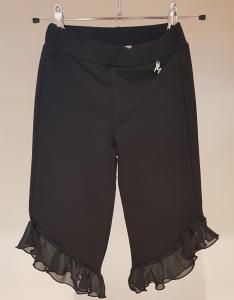 Pantalone nero in felpa con rouge