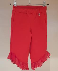 Pantalone rosso in felpa con rouge