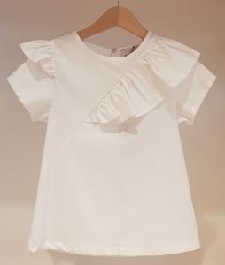 Vestito bianco in popeline