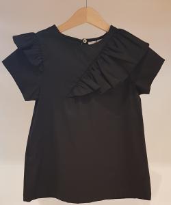Vestito nero in popeline