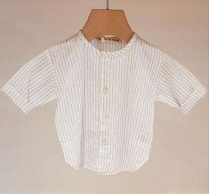 Camicia bianca con righe azzurre, 24M