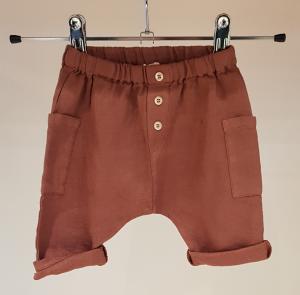 Pantaloncino ruggine con tasconi