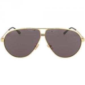 Tom Ford - Occhiale da Sole Unisex, JET, Matte Gold/Smoke Grey Shaded FT0734 (30A)  C64